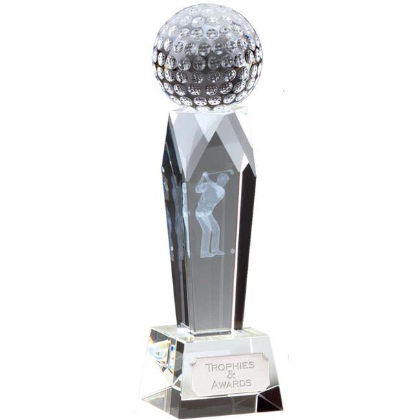 "Campbell Golf Optical Crystal Award 18cm (7"")"
