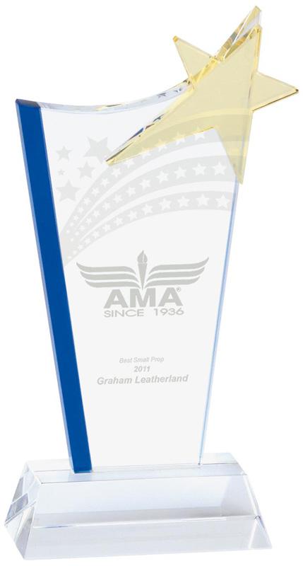 "Festival Star Jade Glass Award 24cm (9.5"")"