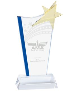 "Festival Star Jade Glass Award 24cm (9.5"")"