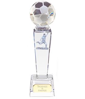 "Optical Crystal Footballer & Ball Award 23.5cm (9.25"")"