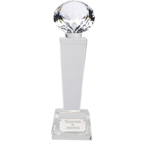 "Phoenix Optical Crystal Glass Award 21.5cm (8.5"")"