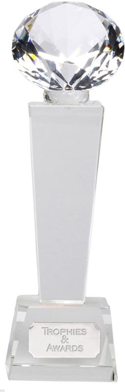 "Phoenix Optical Crystal Glass Award 24cm (9.5"")"