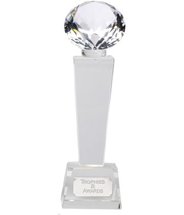 "Phoenix Optical Crystal Glass Award 24cm (9.5"")"