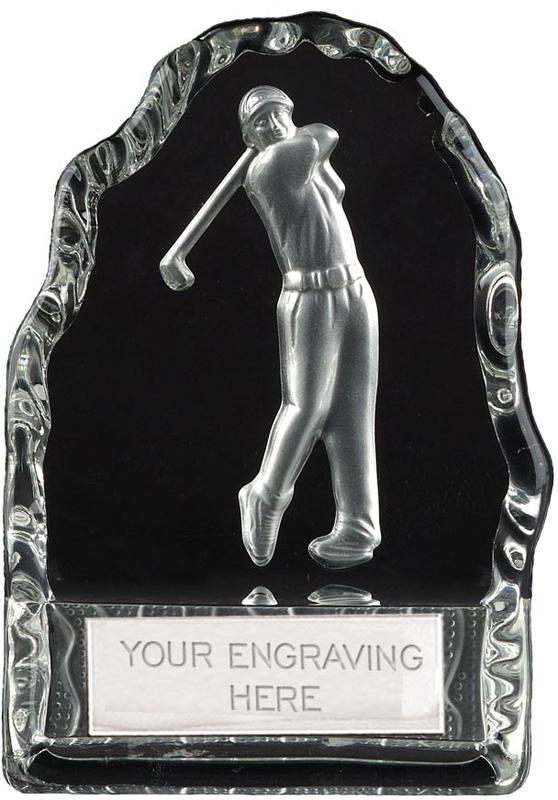 """Frosted Golfer Iceberg Glass Award 11cm (4.25"""")"""