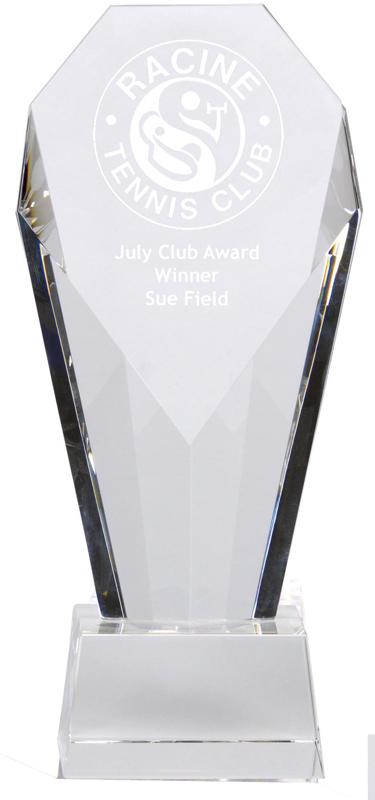 "Achievement Diamond Optical Crystal Award 18.5cm (7.25"")"