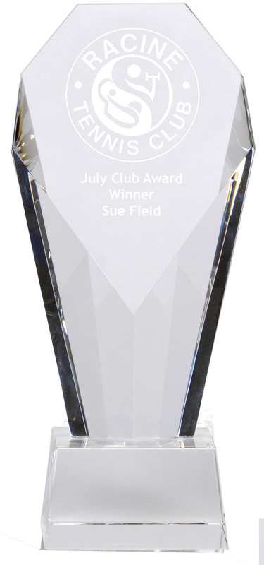 "Achievement Diamond Optical Crystal Award 21cm (8.25"")"