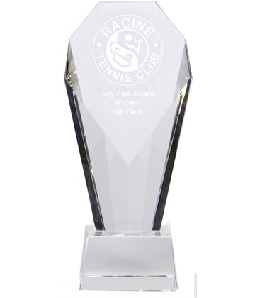 "Achievement Diamond Optical Crystal Award 21cm (8.25"")"