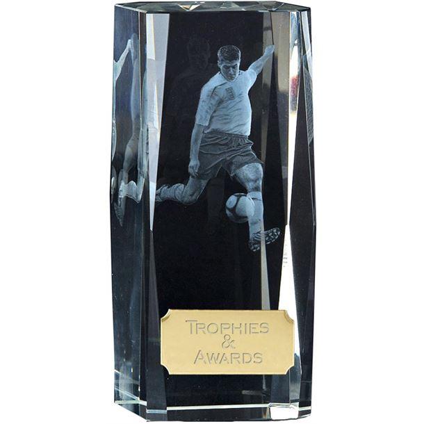 "Clarity Action Football Player Block Award 11.5cm (4.5"")"