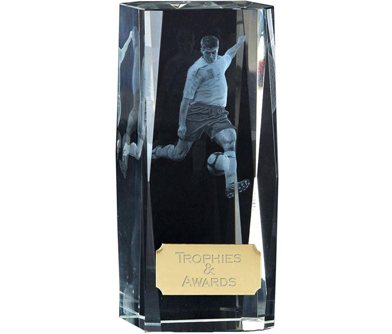 "Clarity Action Football Player Block Award 11.5cm (4.5"")"