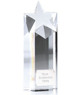 "Heavyweight Optical Crystal Star Column Award 16.5cm (6.5"")"