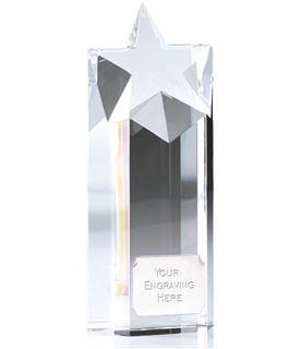 "Heavyweight Optical Crystal Star Column Award 19cm (7.5"")"