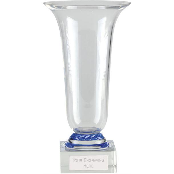 "Alpha Glass Presentation Cup with Blue Trim 25.5cm (10"")"