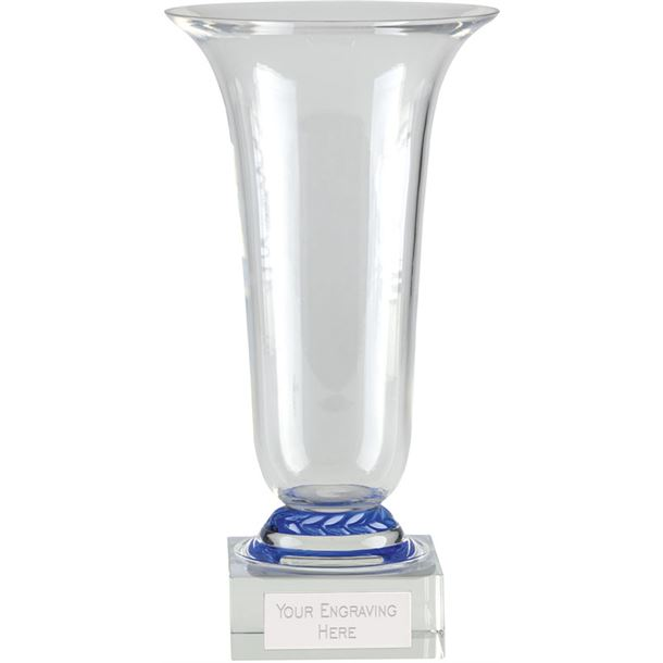 "Alpha Glass Presentation Cup with Blue Trim 30.5cm (12"")"