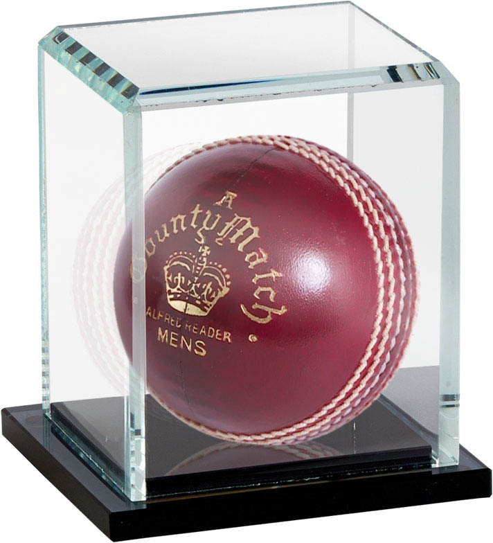 "Cricket Ball Glass Display Case Capsule 14cm (5.25"")"