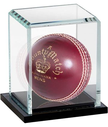 "Cricket Ball Glass Display Case Capsule 14cm (5.25"")"