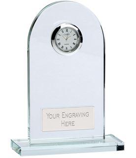 "Arch Crystal Glass Clock 11.5cm (4.5"")"