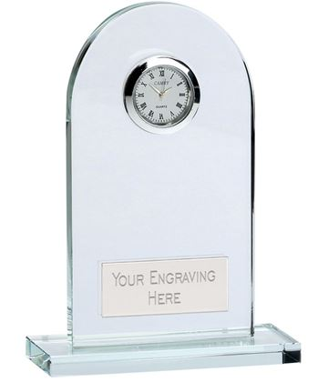 "Arch Crystal Glass Clock 11.5cm (4.5"")"