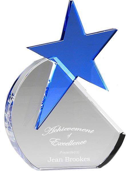 """Optical Crystal Aquamarine Star 20.5cm (8"""")"""