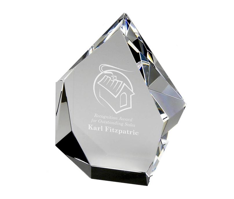 "Optical Crystal Glacier Award 12.5cm (5"")"