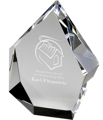 "Optical Crystal Glacier Award 16.5cm (6.5"")"
