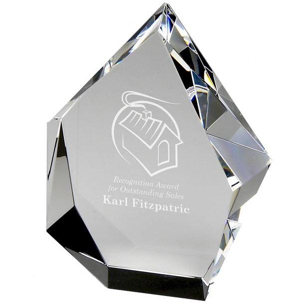 "Optical Crystal Glacier Award 16.5cm (6.5"")"