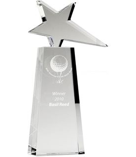 "Optical Crystal Polar Star Award 25.5cm (10"")"