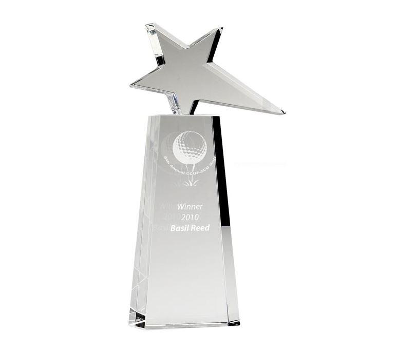 """Optical Crystal Polar Star Award 25.5cm (10"""")"""