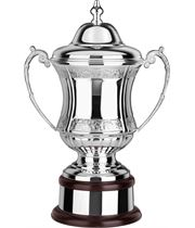 """Silverplated Hand Chased Conquerors Presentation Cup 30.5cm (12"""")"""