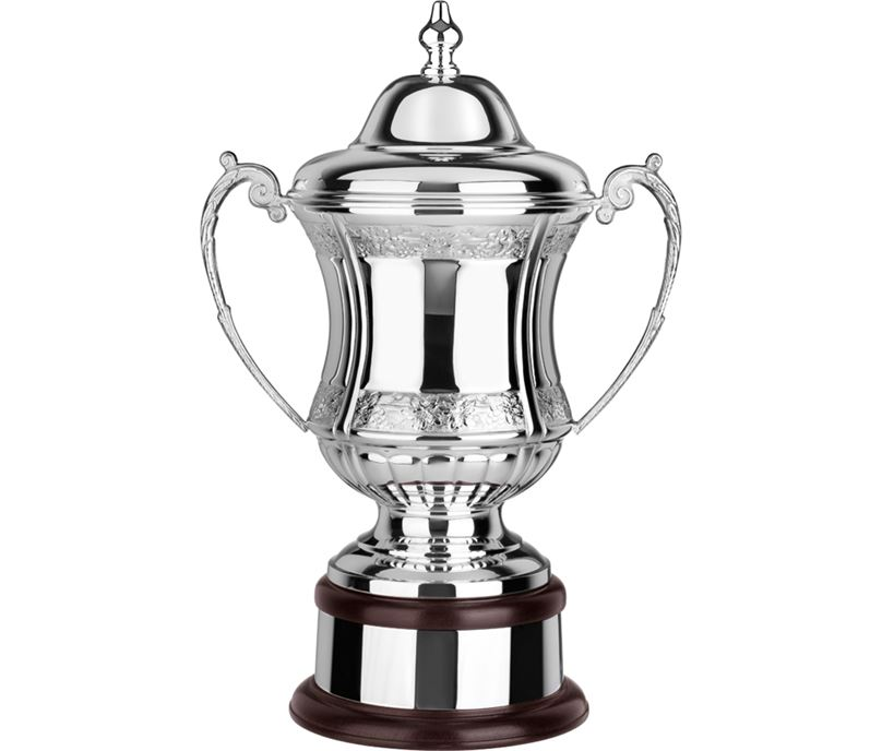 "Silverplated Hand Chased Conquerors Presentation Cup 30.5cm (12"")"