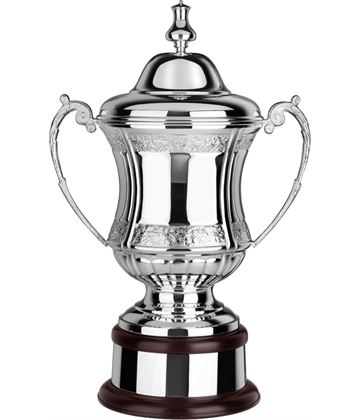 "Silver Plated Hand Chased Conquerors Presentation Cup 47cm (18.5"")"