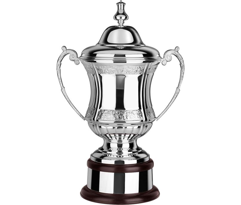 """Silver Plated Hand Chased Conquerors Presentation Cup 47cm (18.5"""")"""