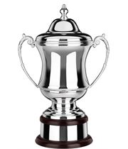 "Silver Plated Plain Conquerors Presentation Cup 30.5cm (12"")"