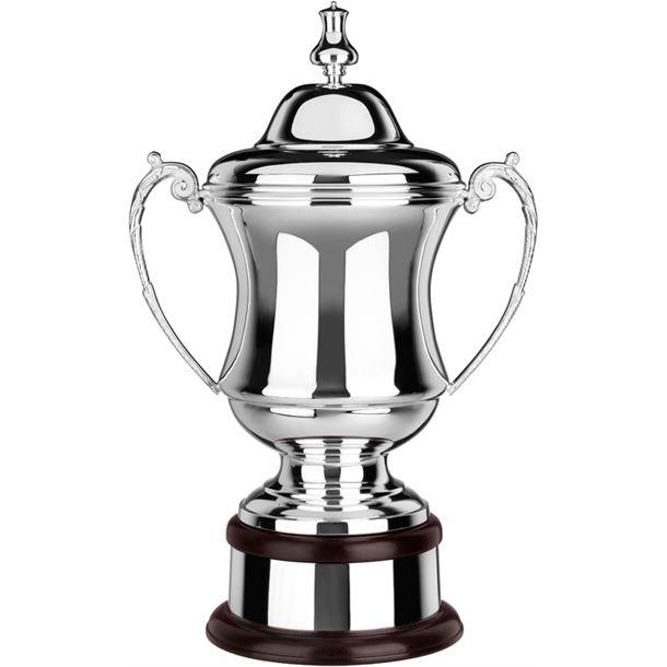 "Silver Plated Plain Conquerors Presentation Cup 47cm (18.5"")"
