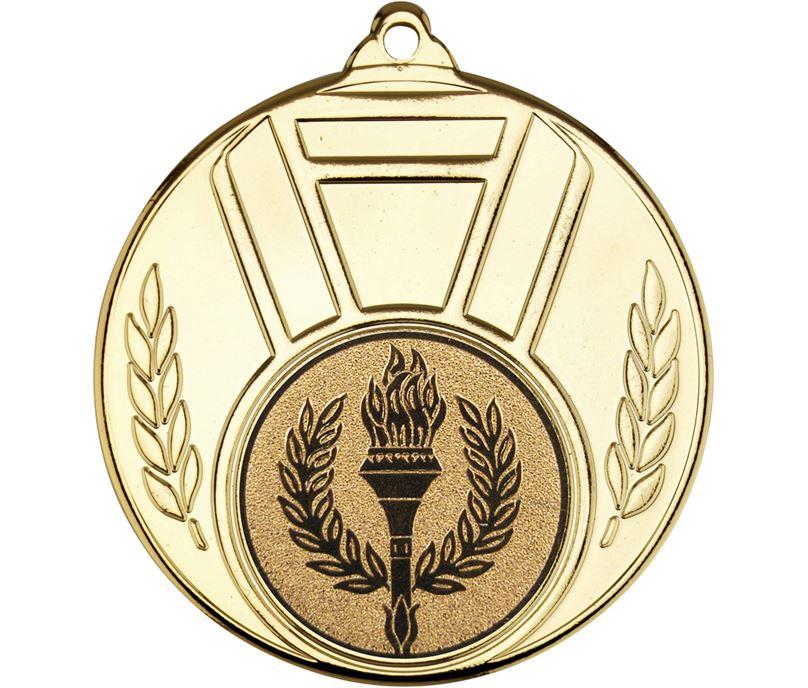 "Gold Ribbon And Leaf Medal 50mm (2"")"