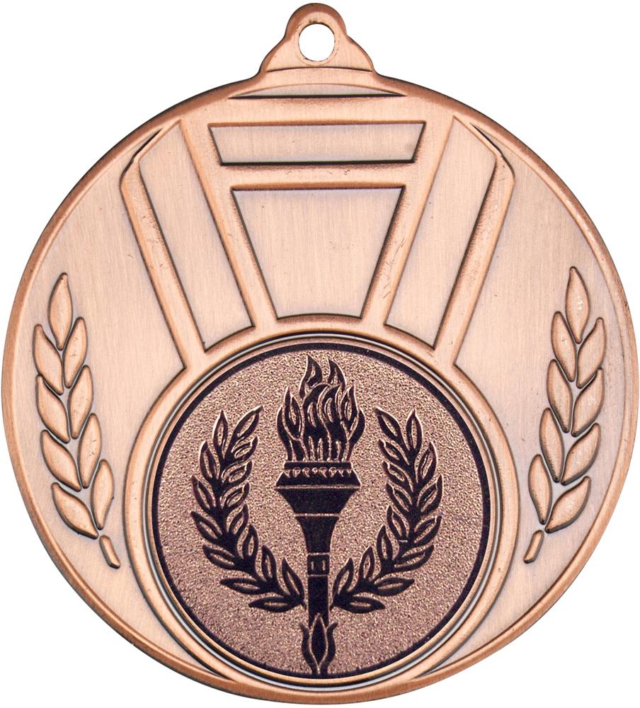 """Ribbon & Leaf Medal Bronze 50mm (2"""")"""