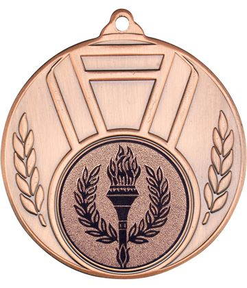 "Ribbon & Leaf Medal Bronze 50mm (2"")"