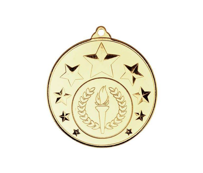 "Multi Star Medal With Centre Gold 50mm (2"")"