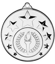 "Multi Star Medal With Centre Silver 50mm (2"")"