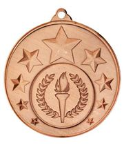 "Multi Star Medal With Centre Bronze 50mm (2"")"