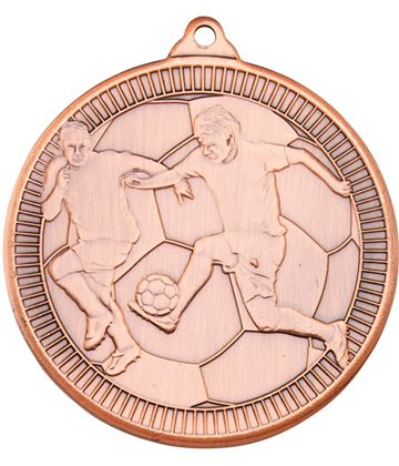 "Bronze Multi Line Football Medal 50mm (2"")"