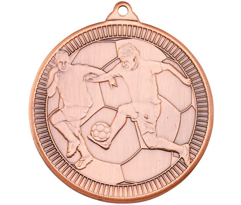 "Bronze Multi Line Football Medal 50mm (2"")"