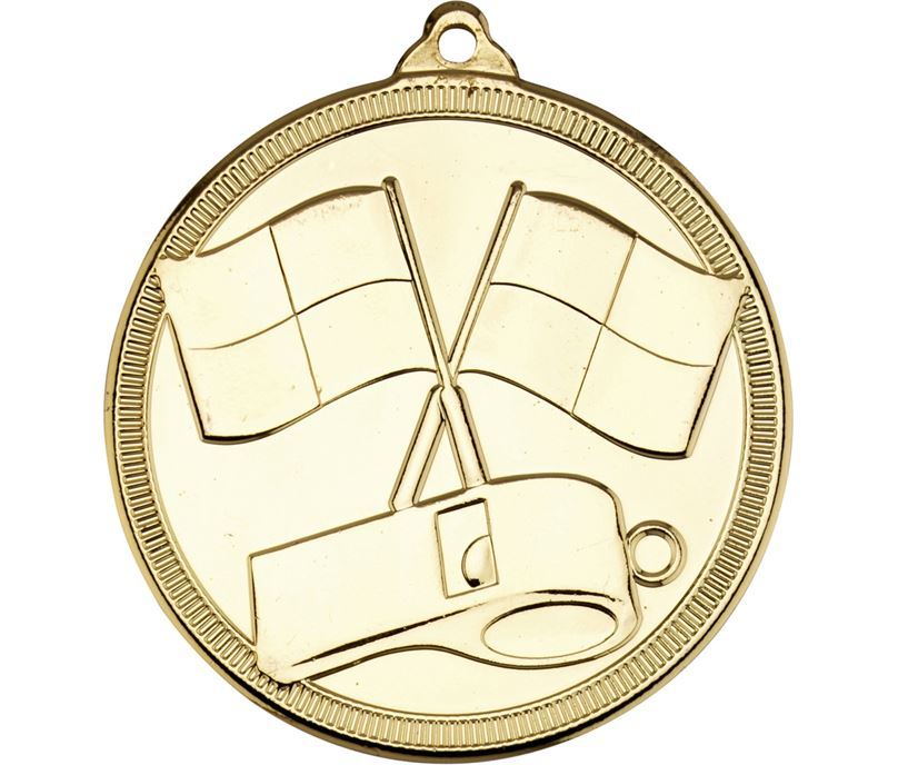 "Referee & Official Sport Medal Gold 50mm (2"")"