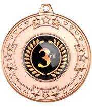 "Bronze Star & Pattern Medal with 1"" Centre Disc 50mm (2"")"