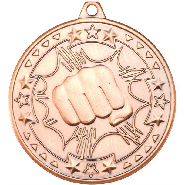 "Bronze Tri Star Martial Arts Medal 50mm (2"")"