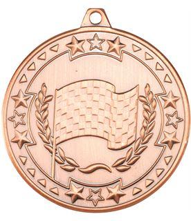 "Bronze Tri Star Motor Sport Medal 50mm (2"")"