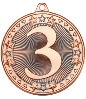 "Bronze Tri Star 3rd Medal 50mm (2"")"
