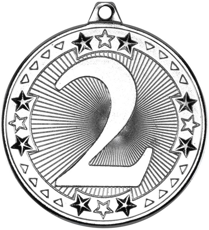 "Silver Tri Star 2nd Medal 50mm (2"")"