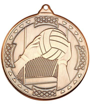 "Bronze Gaelic Football Celtic Medal 50mm (2"")"