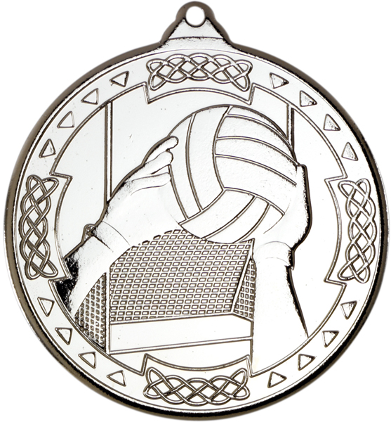 "Silver Gaelic Football Celtic Medal 50mm (2"")"