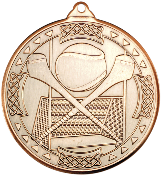 "Bronze Hurling Celtic Medal 50mm (2"")"
